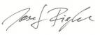Josef Riegler - Unterschrift
